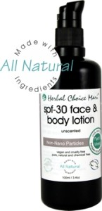 Herbal Choice Mari TINTED Face & Body Lotion SPF30 (4 shades)