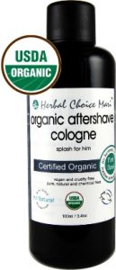 Organic Aftershave Cologne by Herbal Choice Mari