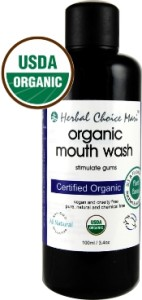 Organic Mouth Wash in Glass!