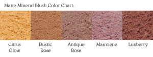 Matte Blush Color Chart
